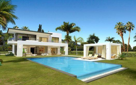 ARFV1844 - Moderne Villen in Bestlage mit Meerblick zu verkaufen in Marbella Goldene Meile