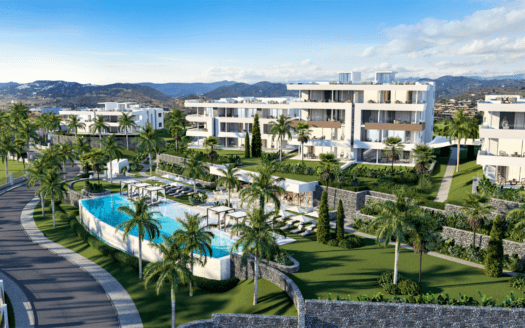 ARFA1359 - Luxus Neubauprojekt für Wohnungen und Penthäuser mit teilweise Meerblick in Santa Clara in Marbella