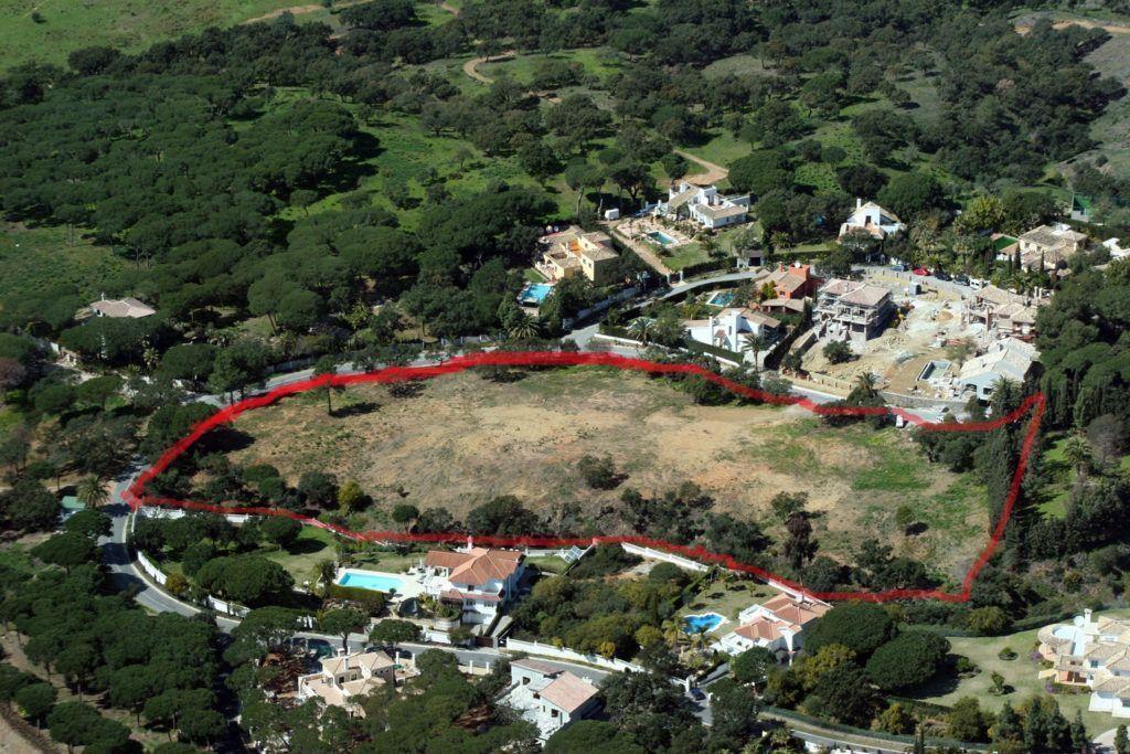 5 Baugrundstücke in Hacienda Las Chapas in Marbella  mit Meersicht