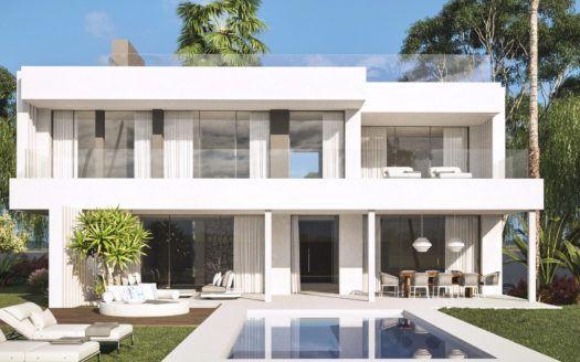 ARFV1932 - Projekt für moderne Villen mit Meerblick zu verkaufen in Cancelada bei Estepona