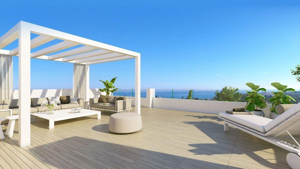 ARFA1226 - Erstaunliches Projekt von zeitgenössischen Wohnungen und Penthäusern in Estepona zu verkaufen