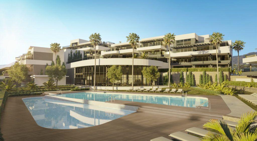 ARFA1332 - Modernes Wohnprojekt in Estepona Stadt zu verkaufen
