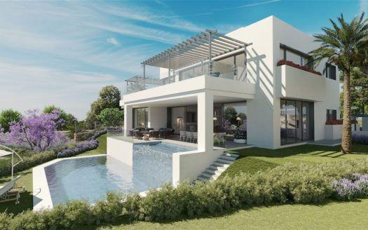 ARFV2113 - Neubauvillen in Golflage mit Meerblick zum Verkauf in Artola in Marbella