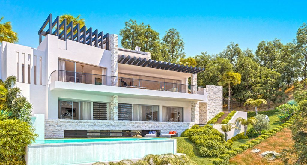 ARFV-2125 Projekt für Neubauvilla mit Meerblick und mit Baulizenz zum Verkauf in Elviria in Marbella