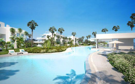 ARFA1388 - 2 moderne Eck Neubauwohnungen zu verkaufen am Atalaya Golf nahe Benahavis