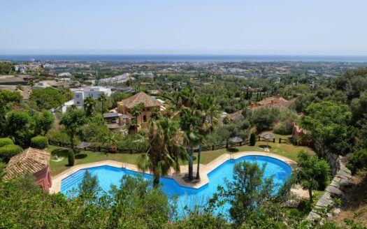 ARFA1413-355 Garten Wohnung mit fantastischem Meerblick nahe Marbella zu verkaufen