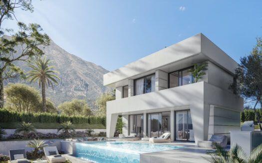 ARFV2178  Projekt für14 Luxus Villen mit modernen und frischem Design in La Duquesa Golf in Manilva