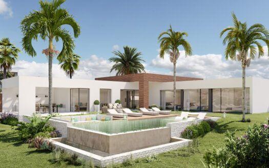 ARFV2185    Projekt für Designer-Villa mit privilegierter Aussicht in Altos de los Monteros in Marbella