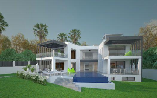 ARFV2168 Aussergewöhnliches Projekt für Villa auf der Strandseite in Marbesa in Marbella
