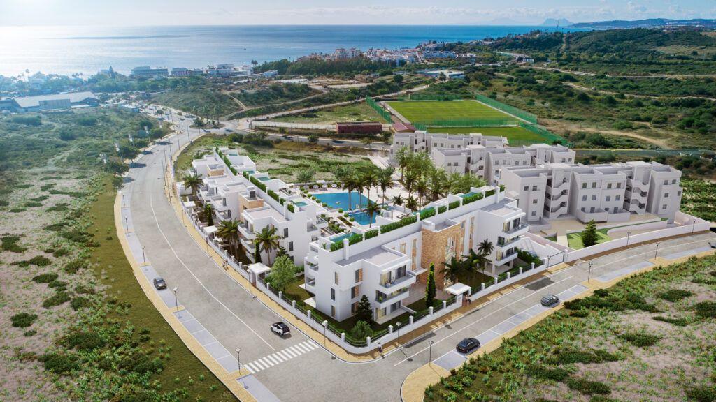 AFRA1455 35 Wohnungen und Penthäuser mit privatem Pool nahe Estepona Stadt